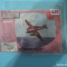 Figuras de Goma y PVC: MONTAPLEX- SOBRE CERRADO- HIDROAVION SERIE 600-Nº622-PUNTO REDONDO. Lote 80308073