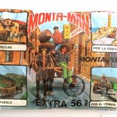 Figuras de Goma y PVC: SOBRE MONTAPLEX EXTRA Nº 56 MONTAMAN CARRETA BARRILES - SOBRE CERRADO. Lote 105271907