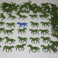 Figuras de Goma y PVC: LOTE DE CABALLOS FABRICADOS POR ESJUSA - MONTAPLEX - AÑOS 70 . Lote 110239599