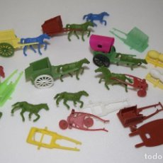 Figuras de Goma y PVC: MONTAMAN - MONTAPLEX - LOTE DE TARTANA, CARRETA, CUADRIGA - ALGUNAS COMPLETAS Y RECAMBIOS . Lote 110241727