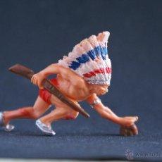 Figuras de Goma y PVC: INDIO DE PECH AGACHADO CON RIFLE.. Lote 42385981