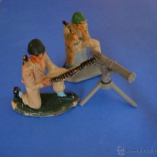 Figuras de Goma y PVC: SOLDADOS AMERICANOS PECH HNOS AMETRALLADORA. Lote 45941257