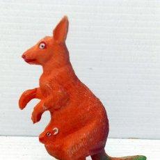Figuras de Goma y PVC: PECH HERMANOS CANGURO GOMA FIGURE PINTADA A MANO SIN JUGAR KANGAROO AUSTRALIA FIGURA ANIMAL FIGURE. Lote 50193854