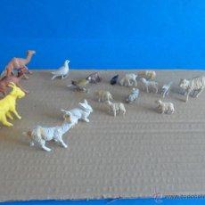 Figuras de Goma y PVC: FIGURAS DE ANIMALES - BELÉN O NACIMIENTO - TAMAÑO NORMAL Y MINIATURAS - PECH. Lote 50742248