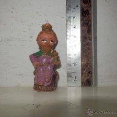Figuras de Goma y PVC: CABEZON PECH REY MAGO BELEN. Lote 51103343
