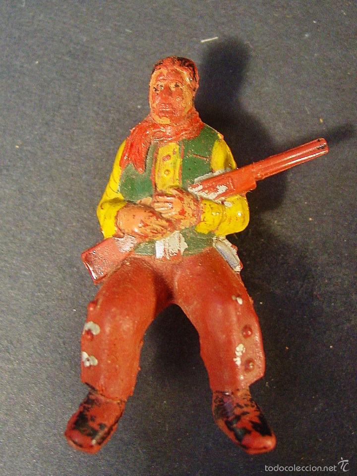 Figuras de Goma y PVC: CARRETA PECH EN MADERA, GOMA Y PLÁSTICO. AÑOS 50. CON SU CAJA. - Foto 9 - 59955927