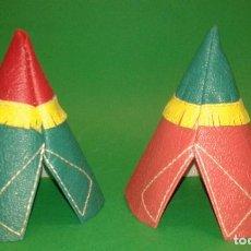 Figuras de Goma y PVC: TIPI INDIO DE CUERO DE PECH. Lote 69402853