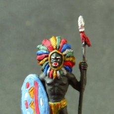 Figuras de Goma y PVC: FIGURA CENTINELA NEGRO DEL SAFARI. Lote 78436765