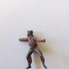 Figuras de Goma y PVC: VAQUERO EN GOMA PECH. Lote 87371112