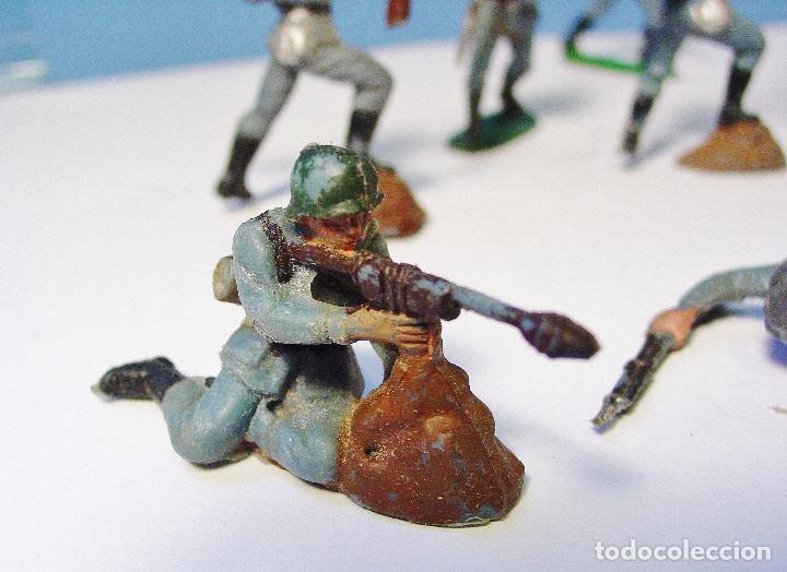 Figuras de Goma y PVC: LOTE 11 SOLDADOS ALEMANES EN ACCIÓN 2ª SEGUNDA GUERRA MUNDIAL. PECH. BUEN ESTADO - Foto 5 - 89727092
