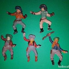 Figuras de Goma y PVC: VAQUEROS DE PECH, EN GOMA, AÑO 1955. Lote 96032387