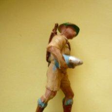 Figuras de Goma y PVC: ARTILLERO INGLES PECH HNOS. Lote 99995371