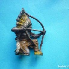 Figuras de Goma y PVC: INDIO PECH GOMA AÑOS 50. Lote 99995891