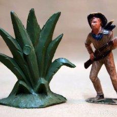 Figuras de Goma y PVC: COMPLEMENTO FIGURA DE PLASTICO, PLANTA GRANDE, 7 CM, FABRICADO POR PECH, 1970S. Lote 103366427