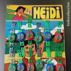 Figuras de Goma y PVC: PACK DE 12 RELOJES HEIDI AÑOS 60. Lote 87100648