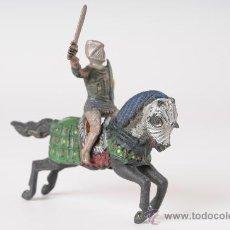 Figuras de Goma y PVC: CABALLERO MEDIEVAL A CABALLO, REAMSA, AÑOS 50. Lote 26524286
