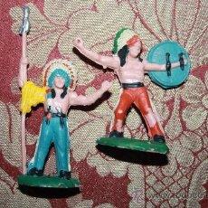 Figuras de Goma y PVC: BONITA PAREJA DE INDIOS EN PVC - POSIBLEMENTE DE REAMSA - AÑOS 40/50. Lote 34465513