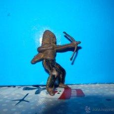 Figuras de Goma y PVC: FIGURA SOLDADO INDIO EN GOMA REAMSA Y GOMARSA OESTE. Lote 54031096