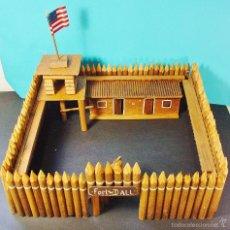 Figuras de Goma y PVC: FORT-DALL FUERTE MADERA AÑOS 50 SIMILAR AL FORT APACHE DE REAMSA. Lote 58200642