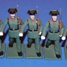 Figuras de Goma y PVC: GUARDIA CIVIL LOTE DE 7 FIGURAS DE REAMSA AÑOS 60/70. Lote 73559619