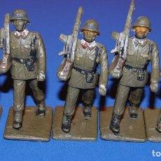 Figuras de Goma y PVC: ARTILLERIA LOTE DE 5 SOLDADOS DE ARTILLERIA DE DESFILE REAMSA AÑOS 60/70. Lote 73564299