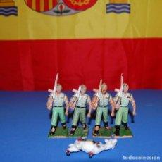 Figuras de Goma y PVC: LEGION LOTE DE 4 SOLDADOS DE LA LEGION ESPAÑOLA DE DESFILE REAMSA AÑOS 60/70. Lote 73565223