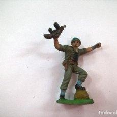 Figuras de Goma y PVC: ANTIGUA FIGURA SOLDADO AMERICANO MARINE - REAMSA JECSAN PECH AÑOS 60. Lote 85403456