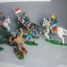 Figuras de Goma y PVC: CUSTER - BATALLA LITTLE BIG HORN - REAMSA, 7 US CABALLERÍA SOLDADOS YANKEES FEDERALES SOLDADO YANKEE. Lote 91638945