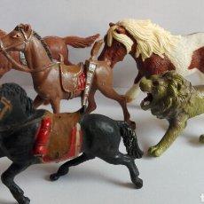 Figuras de Goma y PVC: LOTE CABALLOS OESTE FIGURAS REAMSA JECSAN TEIXIDO CABALLO SCHLEICH FIGURAS PVC . Lote 95375683