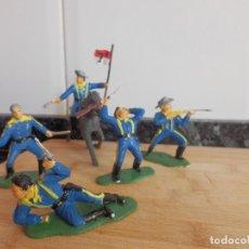 Figuras de Goma y PVC: LITTLE BIG HORN GENERAL CUSTER NORDISTAS CONFEDERADOS OESTE SEPTIMO DE CABALLERIA. Lote 98049255