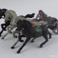 Figuras de Goma y PVC: PRECIOSA CUADRIGA ROMANA. SERIE BEN HUR. REAMSA. AÑOS 50, REALIZADO EN GOMA.. Lote 98529051