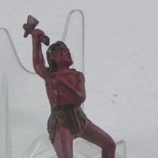 Figuras de Goma y PVC: FIGURA DE JINETE INDIO REALIZADO EN GOMA, REAMSA.. Lote 98536895