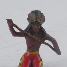 Figuras de Goma y PVC: FIGURA DE INDIO DE GOMA, REALIZADO POR REAMSA O PECH.. Lote 98547599
