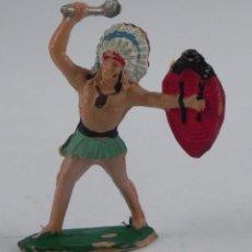 Figuras de Goma y PVC: ANTIGUA FIGURA DE PLASTICO, GUERRERO INDIO REAMSA NUMERO 57. Lote 98548675