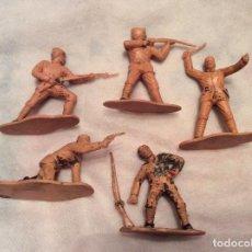 Figuras de Goma y PVC: LOTE 5 SOLDADOS TURCOS REAMSA AÑOS 60. Lote 101099495