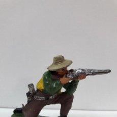 Figuras de Goma y PVC: VAQUERO - COWBOY EN POSICION DE DISPARO . FIGURA REAMSA Nº 58 . AÑOS 50 EN GOMA. Lote 101130619