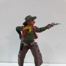 Figuras de Goma y PVC: VAQUERO - COWBOY EN POSICION DE DISPARO . FIGURA REAMSA Nº 63 . AÑOS 50 EN GOMA. Lote 101130767