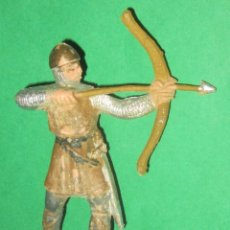 Figuras de Goma y PVC: GUERRERO MEDIEVAL SERIE RICARDO CORAZON DE LEON ARQUERO REAMSA AÑOS 50. Lote 104316851
