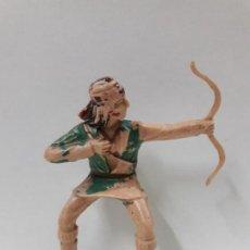 Figuras de Goma y PVC: GUERRERO INDIO PARA CABALLO - FIGURA REAMSA Nº 351 . SERIE APACHES . AÑOS 60. Lote 105930511
