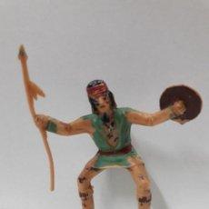 Figuras de Goma y PVC: GUERRERO INDIO PARA CABALLO - FIGURA REAMSA Nº 350 . SERIE APACHES . AÑOS 60. Lote 105930731