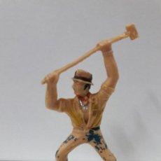 Figuras de Goma y PVC: TRABAJADOR DEL FERROCARRIL . FIGURA REAMSA Nº 448 . SERIE FERROCARRIL . AÑOS 60. Lote 105933907