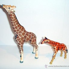 Figuras de Goma y PVC Schleich: JIRAFA CON CRÍA. Lote 53276821