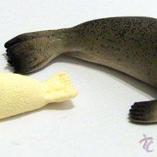 Figuras de Goma y PVC Schleich: FOCA CON SU CRÍA. Lote 53291674
