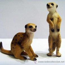 Figuras de Goma y PVC Schleich: PAREJA DE SURICATOS. Lote 53323370