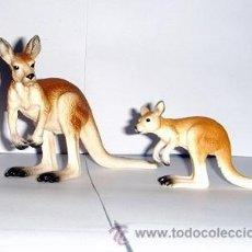Figuras de Goma y PVC Schleich: CANGURO CON SU CRÍA. Lote 53323503