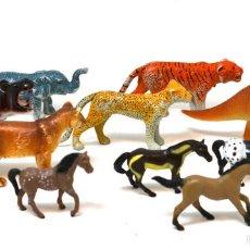 Figuras de Goma y PVC Schleich: LOTE DE ANIMALES MADE IN CHINA Y UNO DE LA MARCA SCHLEICH, CIRCA 1990. Lote 55955154