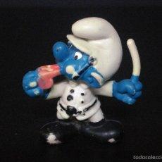 Figuras de Goma y PVC Schleich: FIGURA O MUÑECO GOMA PVC - PITUFO GUARDIA URBANO. Lote 60870059