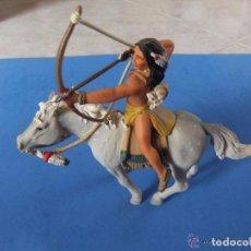 Figuras de Goma y PVC Schleich: GUERRERO SIOUX A CABALLO MARCA SCHLEICH AÑO 2005 DESCATALOGADO. Lote 83010324