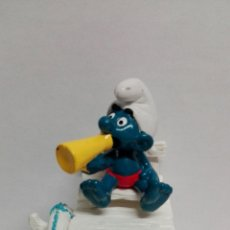 Figuras de Goma y PVC Schleich: PITUFO SOCORRISTA SCHLEICH. PITUFO VIGILANTE SCHLEICH. LOS PITUFOS SCHLEICH. Lote 83530030