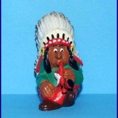 Figuras de Goma y PVC Schleich: AÑOS 80 LUCKY LUKE FIGURAS EN PVC SCHLEICH 1984 FIGURA JEFE INDIO. Lote 90050496